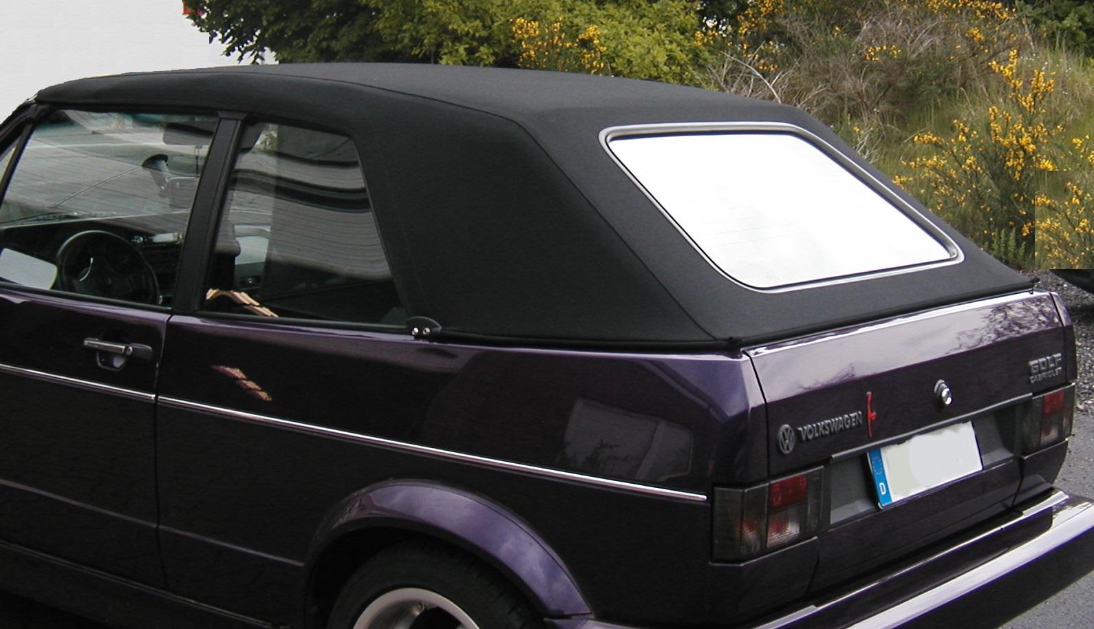 vw golf 1 cabrio verdeck cabrioverdeck stoff schwarz neu. Black Bedroom Furniture Sets. Home Design Ideas
